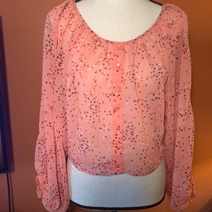 Candie's Coral Top With Star Print Size XS